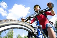 スポーツ自転車や小径自転車を体験してみたい。